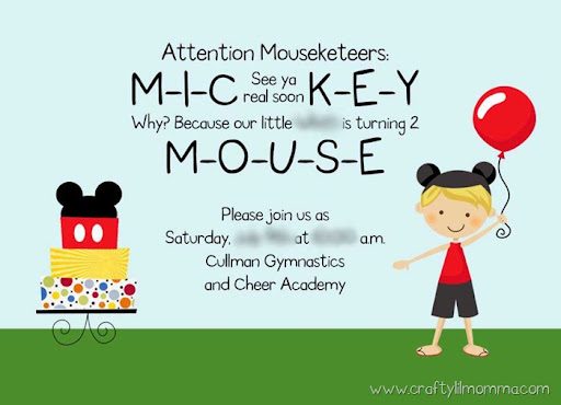 MICKEY Mickey Minnie Clubhouse inspired invitations