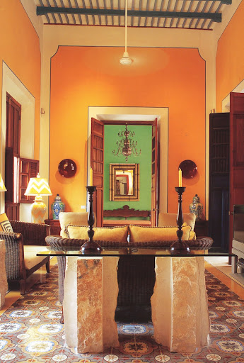 Layers of artful detail in the salon of Merimo Nah.