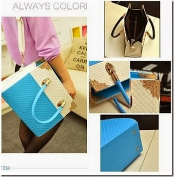 U833 (202.000) PU Leather, 31x25x10, 1kg, BLACK RED BLUE