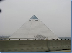 7435 Tennessee, Memphis - I-40 East - Pyramid from Hernando de Soto Bridge
