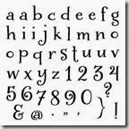 D1522-glamour lowercase alphabet stamps