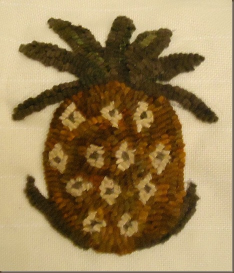 Pineapple Hooked Rug