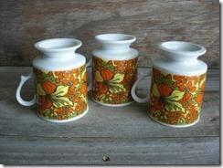 floral vintage cups