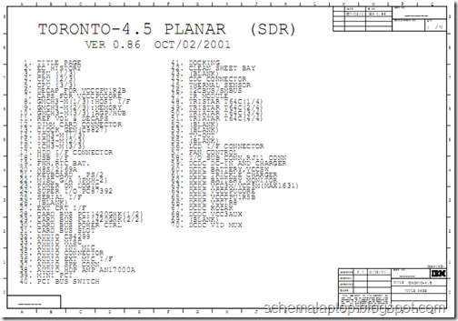 IBM Thinkpad T23 Free Download Laptop Schematics