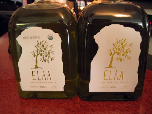 Maria brought delicious Greek olive oil for us to sample.