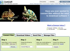 zamzar interface