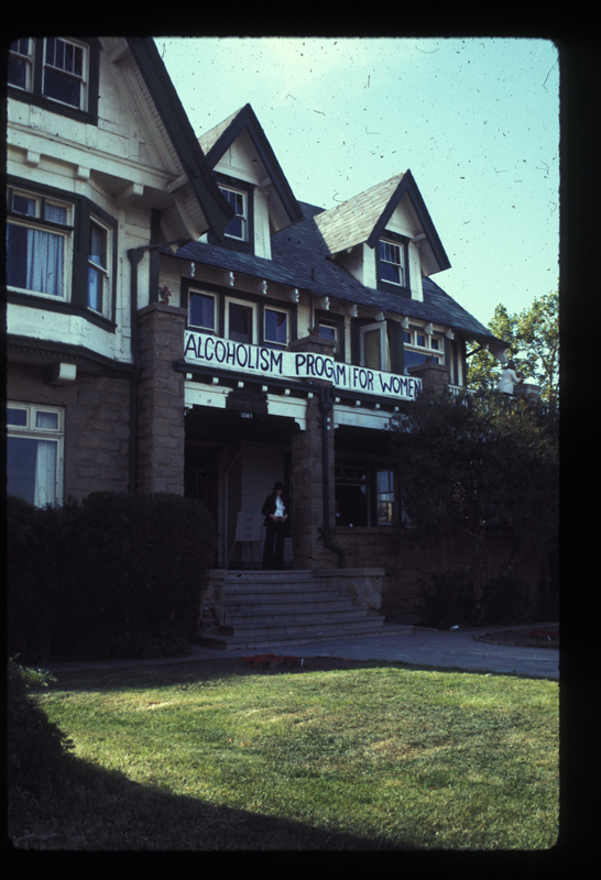Alcoholism Program for Women (APW) building exterior, later Alcoholism Center for Women (ACW). Circa 1975