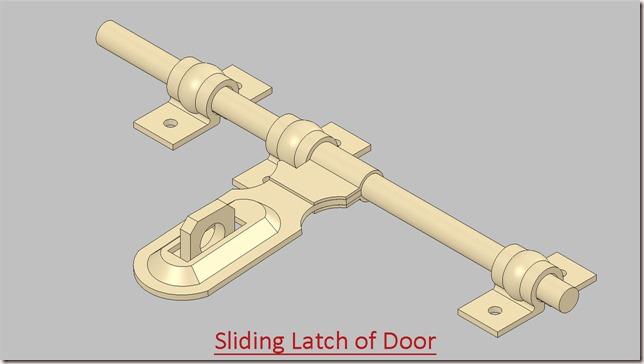 Sliding Latch of Door
