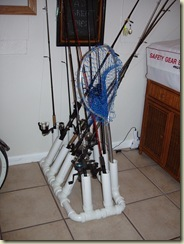 Fishing Pole Rack Project