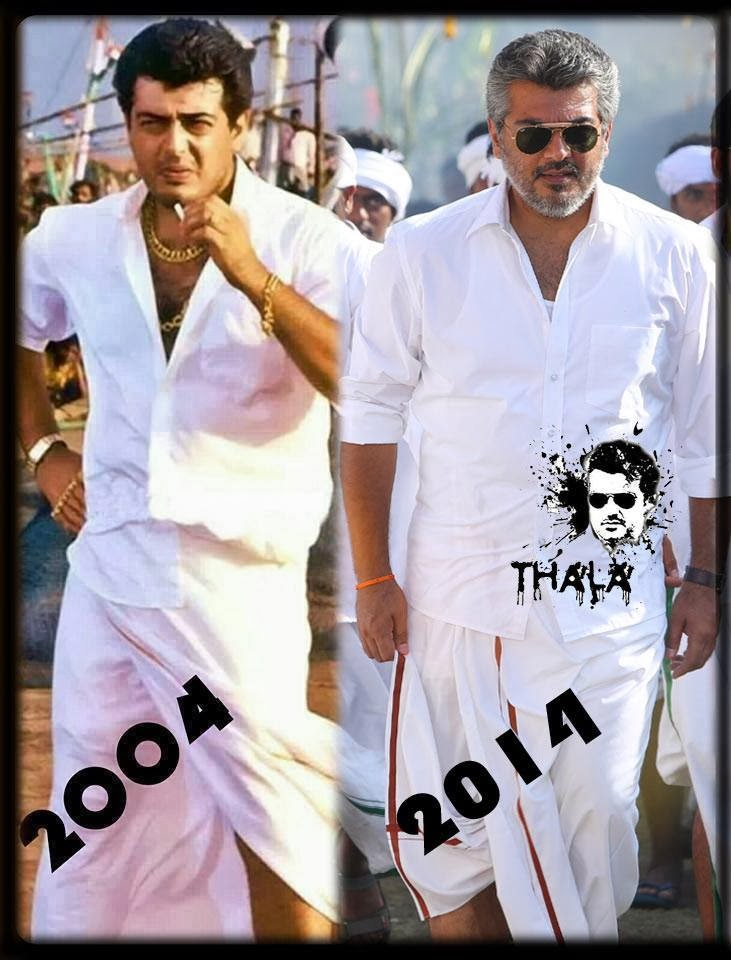 Tamil Actors Ajith Veeram New Still Compare With Ajith Attakasam