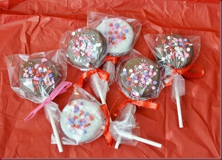 This year Bryce picked Oreo Pops for his Valentine to give to his friends at school Oreo Pops
