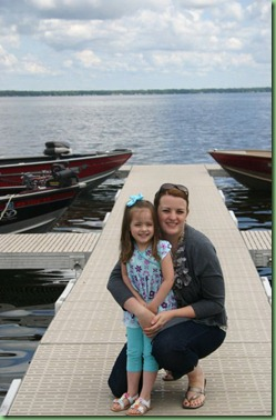 Cara and mommy on battle lake