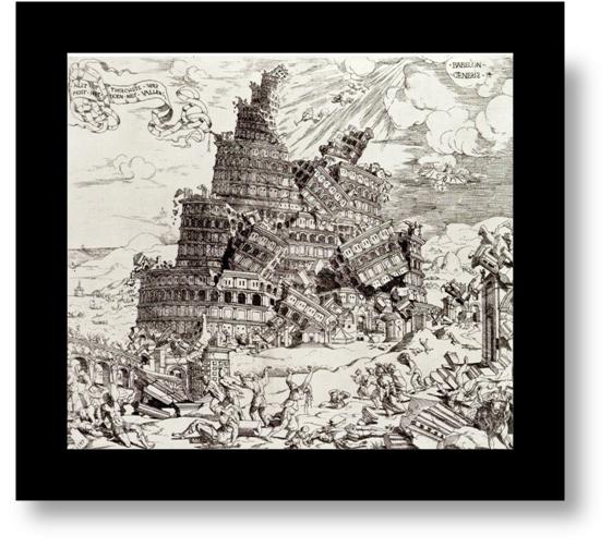 Étienne Delaune, Historia del Génesis, la Torre de Babel. Sig. XVII.