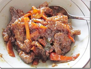 beef with mongolian sauce, 240baon