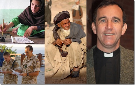 Collage of people in Afghanistan. Thanks to Michael Foley and lafrancevi  for their library shots