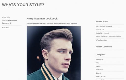 Baú da Moda Masculina: Dica de blog: Whats your style?