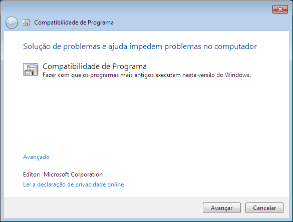 Windows 7: Modo de Compatibilidade de Programa
