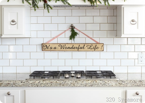 320 sycamore kitchen christmas it's a wonderful life sign