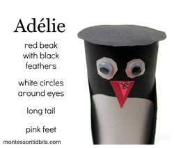 Antartica Adelie penguin craft