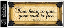 your heart is pure your soul is free350