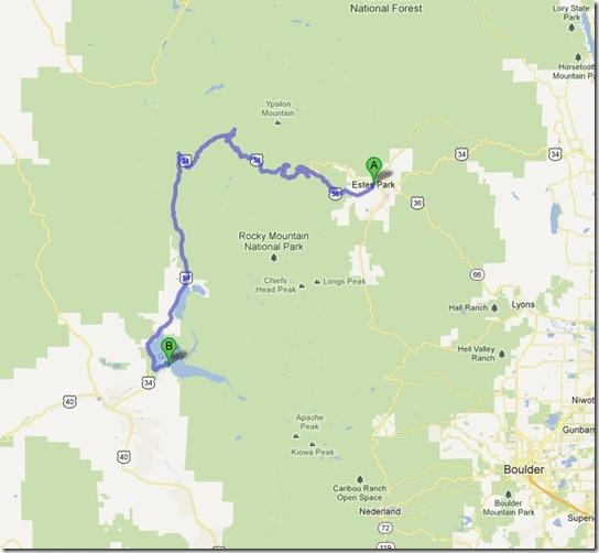 RMNP Drive Route