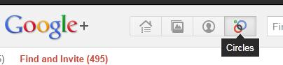 Find people on google+