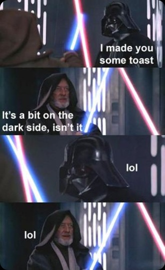 star wars toast lol
