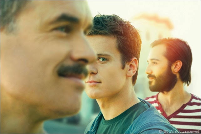 (L-R) Murray Bartlett, Jonathan Groff and Frankie J. Alvarez star in LOOKING.