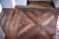 pavimento a formelle in legno antico di 1° patina