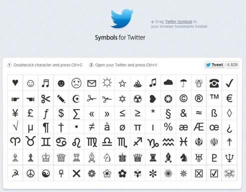 symbols-for-twitter
