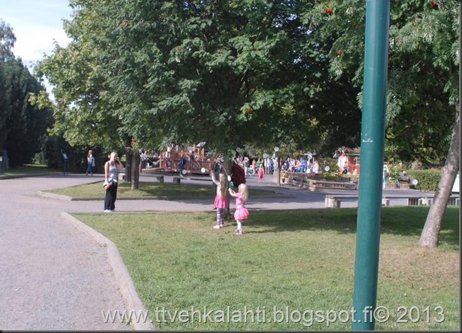 kirjurinluoto puisto potkupallo Marko ja heli maalareina 090