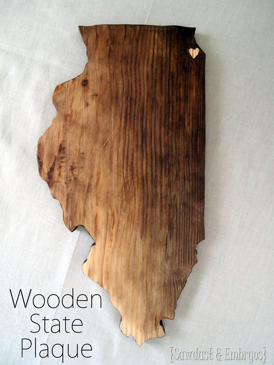 Wooden State Plaque DIY