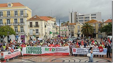 oclarinet. Marcha Contra o Desemprego 2. Out 2012