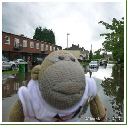 Cars in Bilbrook floods