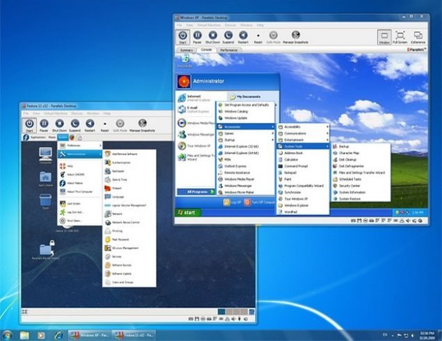windows XP virtual machine