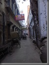 Varanasi Gasse am Morgen