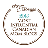 SavvyMom.ca's Most Influential Canadian Mom Blogs of 2013
