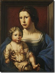 Working Title/Artist: Virgin and ChildDepartment: European PaintingsCulture/Period/Location: HB/TOA Date Code: Working Date: ca. 1522photography by mma, Digital File DP164792.tifretouched by film and media (jnc) 11_5_10
