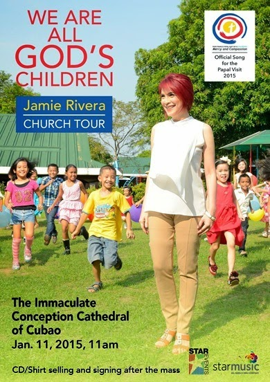 Jamie Rivera goes on a church tour on Jan 11 at the Immaculate Conception Cathedral of Cubao