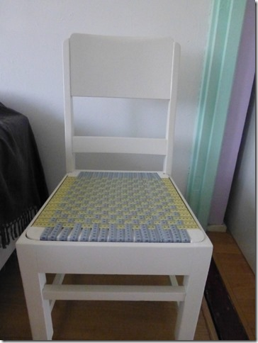 Ginny's measuring tape chair 1
