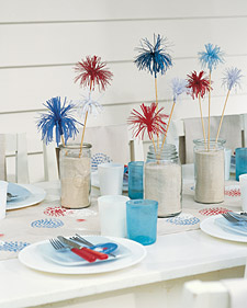 Fireworks Table Setting