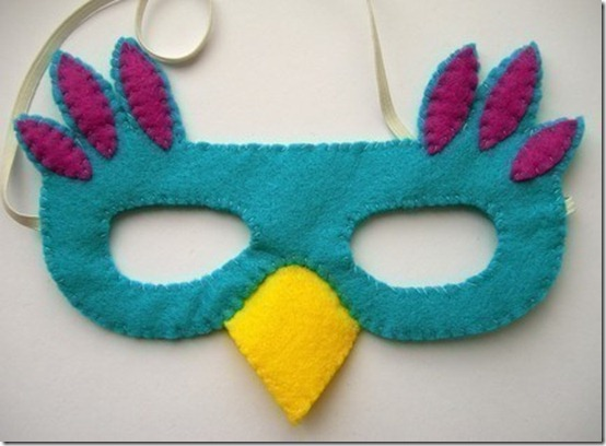 pájaro mascara fieltro (2)