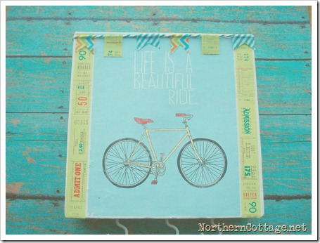 pretty bicycle canvas art @NorthernCottage.net 112