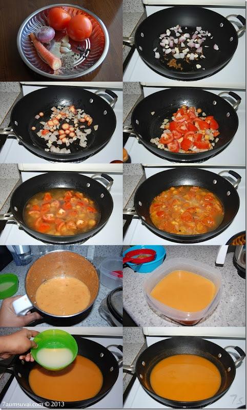 Tomato soup process