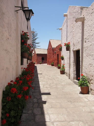 A street within the Santa Catalina convent