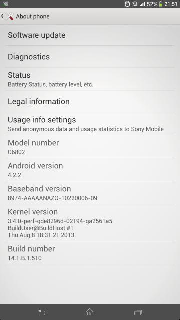 sony xperia z ultra firmware update 2