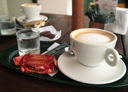 Coffee and an Alfajor at Havanna, Mar del Plata, Argentina by FotosEli / Elizabeth Lovelace [used with permission of photographer]