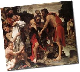 baptism of Jesus carivagio