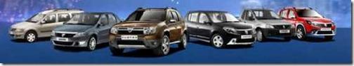Alle Dacia modellen 01