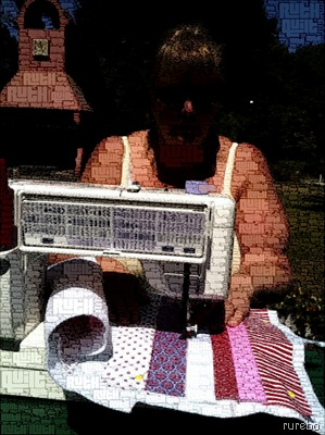 quilting in the sun